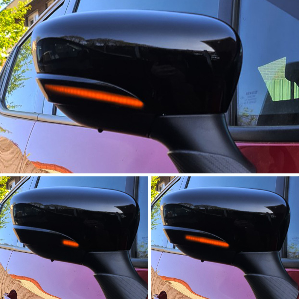 Dynamic LED Blinker Indicator Mirror Turn Light Signal Repeater For Renault Clio IV MK4 BH RS Grandtour KH 2012 -2016