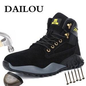 DAILOU/Водонепроницаемые зимние мужские ботинки с мехом; Теплые зимние женские ботинки; Мужская повседневная обувь для работы; Кроссовки; Нера...