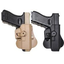 Tático imi glock coldre pistola airsoft arma coldre para glock 17 19 caso cintura com compartimento bolsa caça acessórios