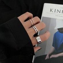 Кольца регулируемые для него и ее волны модные на палец повседневные
