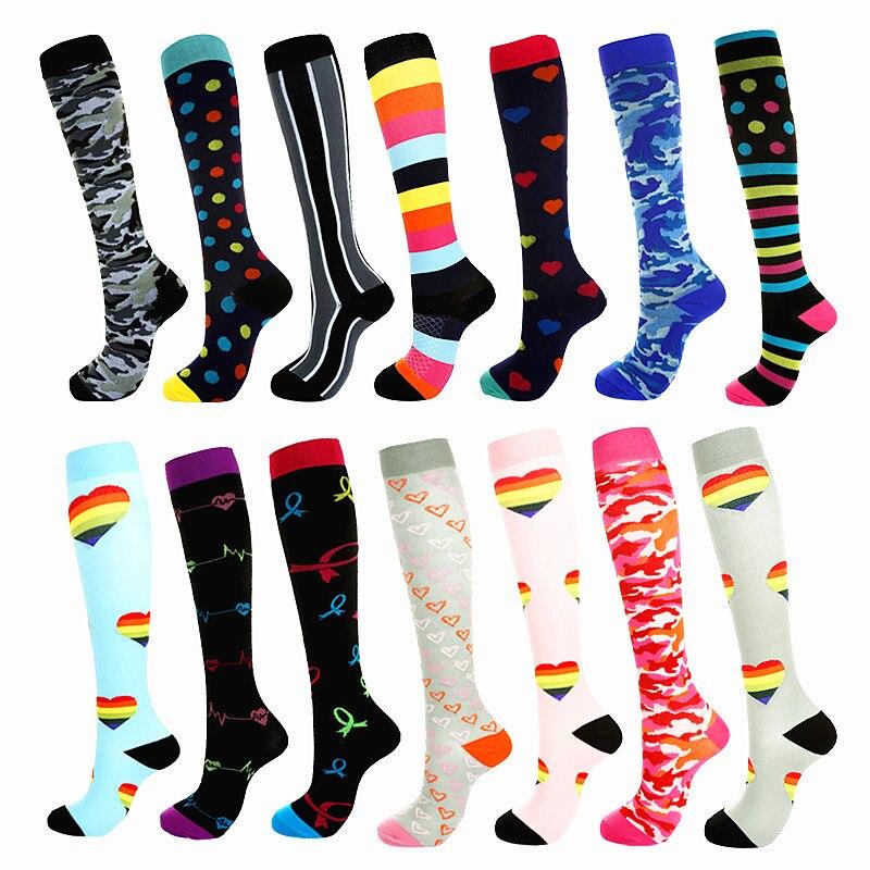 9 Colors Men Socks Professional Compression Socks Breathable Travel Activities Fit For Nurses Shin Splints Flight Travel Socks