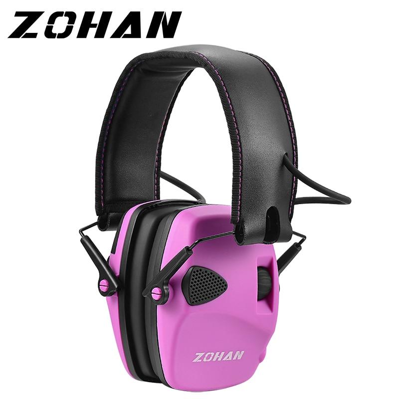 ZOHAN electronic hearing protection shooting Earmuffs Ear Protection Hunting protective Anti-noise headphone for women ear muff