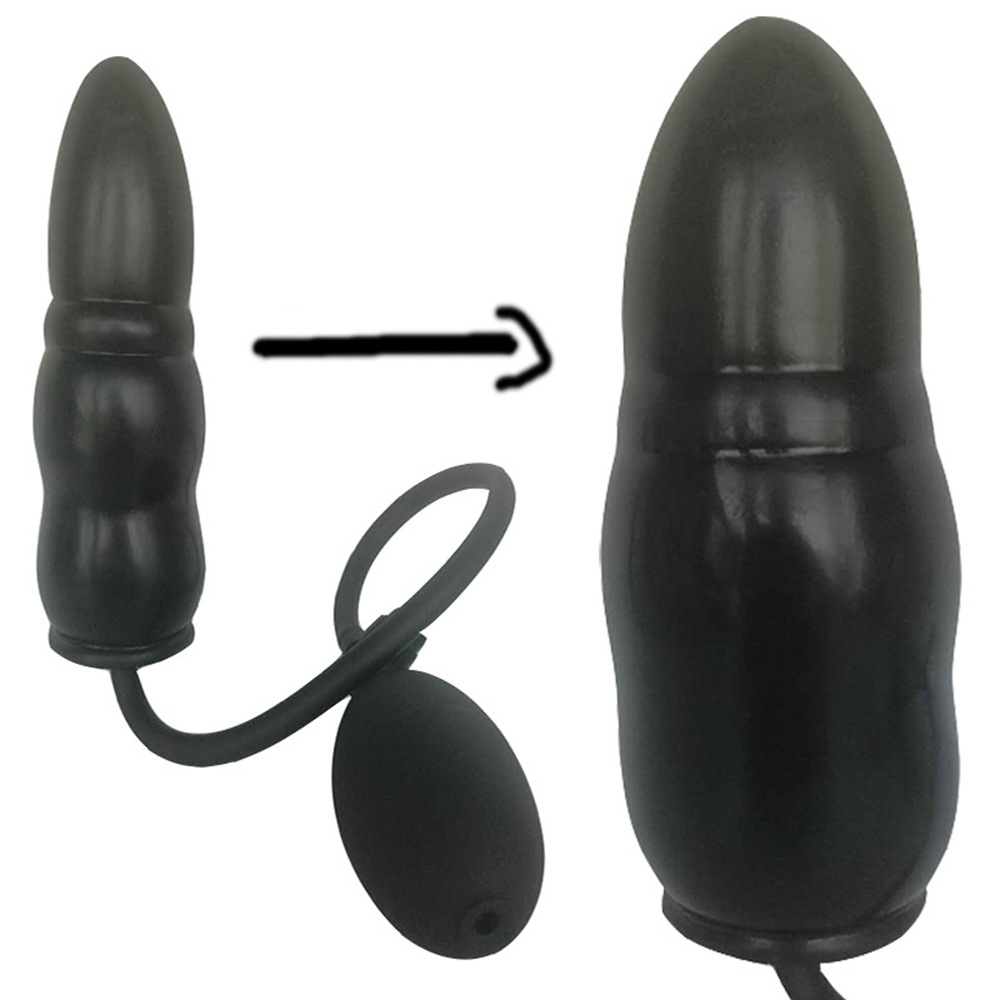 ICEPOINT Big Butt Plug Huge Inflatable Dildo Anal Plug Vaginal Stimulation Pump Realistic Penis Suction Cup Sex Toys For Women