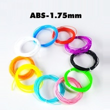 Random Colors ABS Filament 1.75mm for Scribble 3D Drawing Pen 5m Roll 3D Printing Pen Plastic Refilling Material Free Shipping