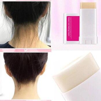 Línea de cabello crema fijación flequillo Control Gel peluquería herramienta cera palo suave roto cabello no grasienta acabado perfecto TSLM1 duradero