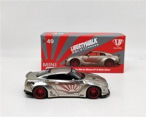 Image 4 - MINI GT 1:64 фунта рабочий Nissan GTR R35 тип 1 атласная Серебристая модель автомобиля LHD/RHD литой под давлением