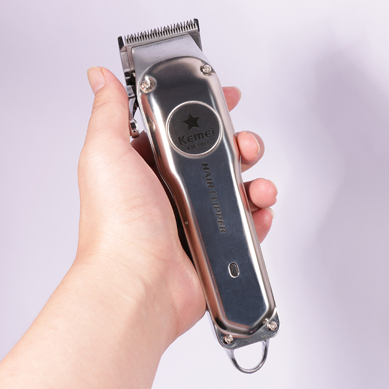 110 240v all metal professional clipper for barber rechargeable hair trimmer men electric beard shaver hair cutting machine-in Hair Trimmers from Home Appliances