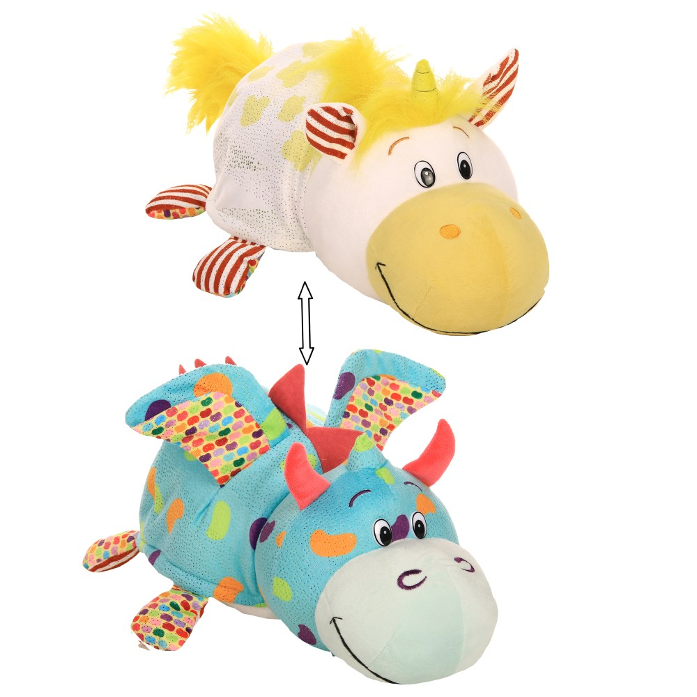 Мягкая игрушка вывернушка 1Тoy Единорог   Дракончик, 35 см|Мягкие игрушки животные|   | АлиЭкспресс