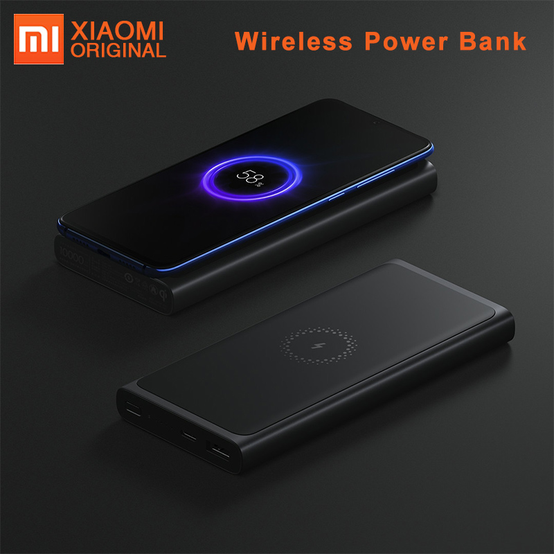 Sans Fil d'origine Batterie Externe de xiaomi 10000mAh Powerbank Portable Qi Sans Fil Chargeur USB-C Port Batterie Externe mi Batterie Externe 3