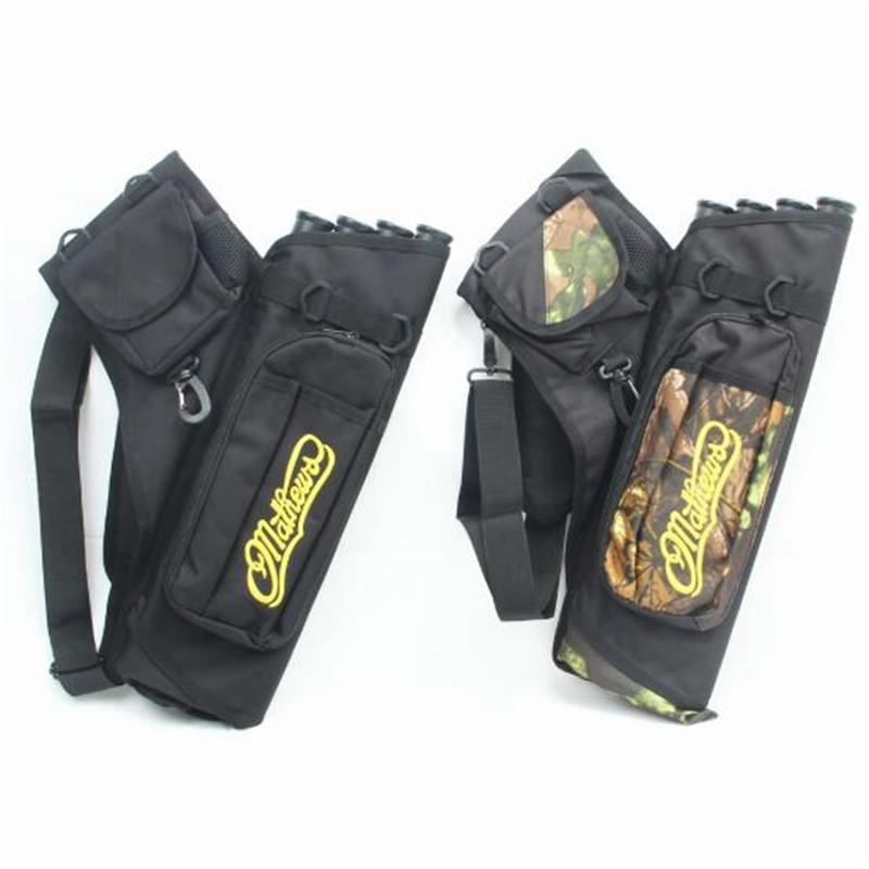 HobbyLane Hunting Arrow Bag <font><b>4</b></font> <font><b>Tubes</b></font> Arrow Quiver for Archery Hunting Arrows Holder Bag with Adjustable Strap Hunting Accessories image