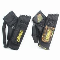 Hobbylane caça saco de seta 4 tubos seta quiver para caça tiro com arco setas titular saco com alça ajustável acessórios caça|Arco e flecha| |  -