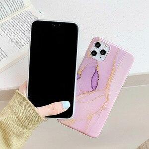 Image 5 - Per Iphone XR 7 8 Più di 11ProMax Morbido Bianco Cassa Del Telefono per iphone X 6 6s Plus Capa iphone Shell Coque con oro rosa di marmo funda