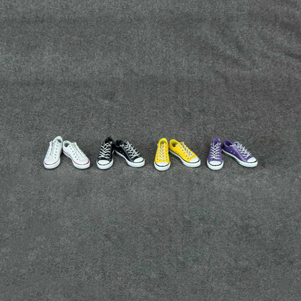 1/6 Lace Up Rubber Made Leinwand Schuhe Casual Sneakers Sport Trainer Männlichen Figuren Zubehör für 12'' Action Figure Hot Toys