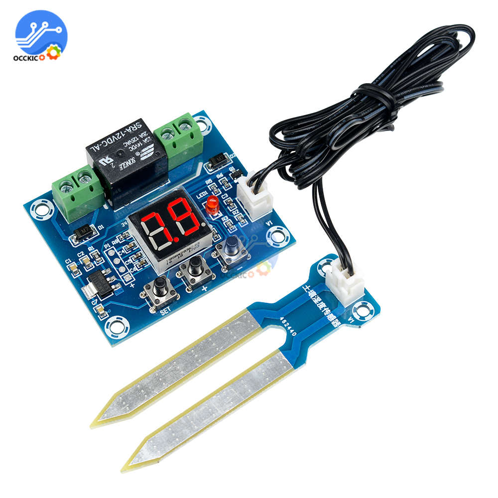 XH-M214 12V Soil Humidity Sensor Module Auto Watering Controller Board Irrigation System LED Display for Smart Home