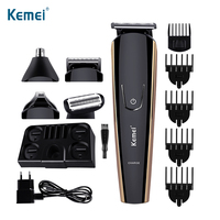 KEMEI 8 In 1 Electric Hair Trimmer Multifunction Hair Clipper Beard Trimer Face Shaving Machine For eyebrow nose hair removal