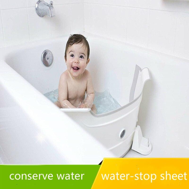 Banheira ajustável partição aleta banho de bebê dam banheira de banho de bebê barreira de poupança de água banho crianças placa de separação acessórios de banho