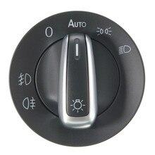 Car Headlamp Controller Headlight Switch Auto Head Light Sensor+Chrome Lavida for V W Golf Bora Polo