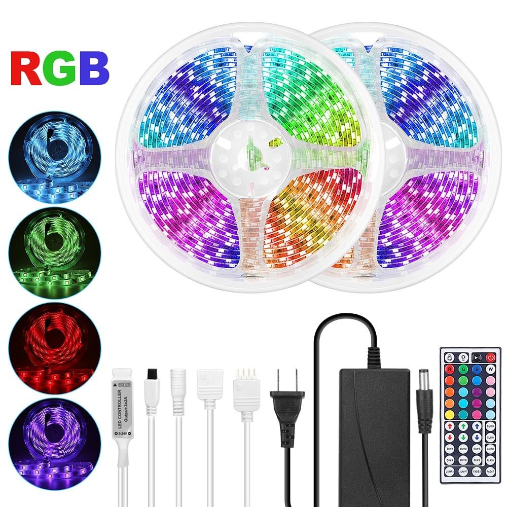LED Strip Ribbon LED Light Strips SMD 5050 2835 RGB Diode Tape DC 12V 12 V Ledstrip 10M 5M Flexible For Living Room Decoration|LED Strips| |  - title=