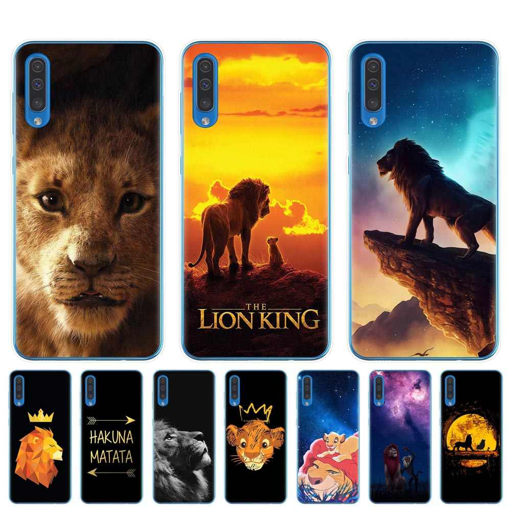 For Samsung A10 A20 A30 A40 A50 A70 A7 A9 A6 A8 Plus 2018 Hakuna Matata Lion King Clear Silicone Soft TPU Phone Case Cover Coque