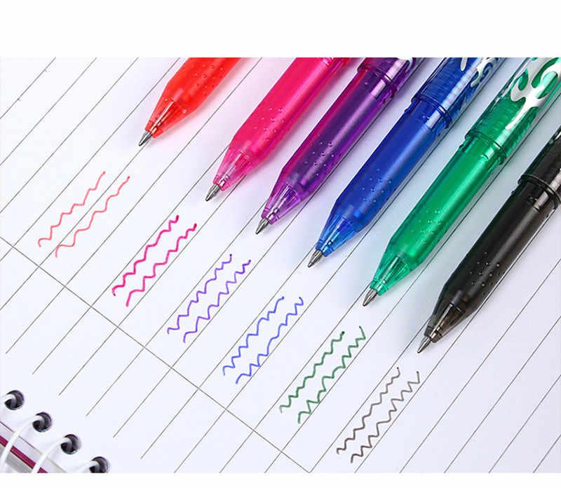8 cores 0.5mm kawaii caneta apagável gel mágico caneta escola escritório material de escrita artigos de papelaria estudante