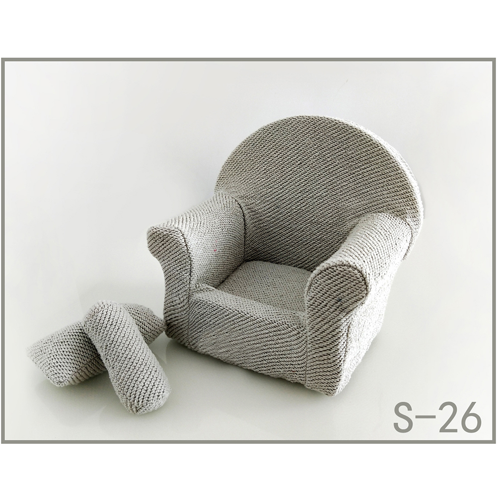 Durable Baby Sofa Set Studio Seat Newborn Pose Soft Shoot With Cushion Arm Chair Small Photography Props Practical Accessories