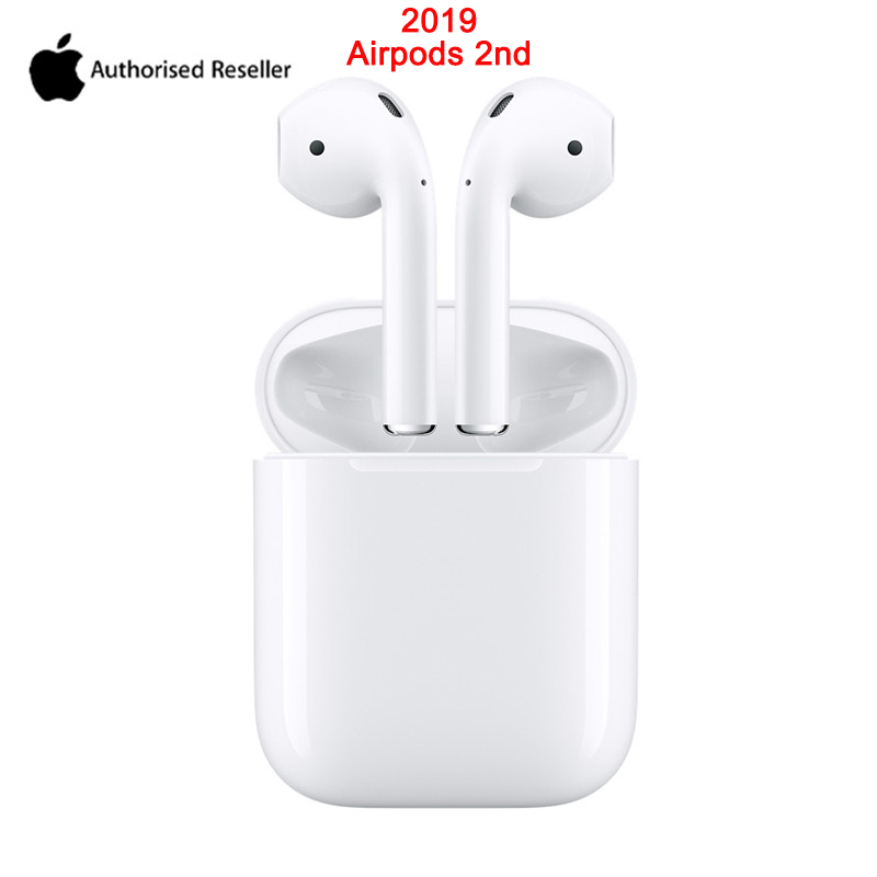<font><b>Apple</b></font> 2019 <font><b>AirPods</b></font> 2nd with Charging Case Earphone Original Bluetooth Headphones for iPhone 11 XR Plus iPad MacBook <font><b>Apple</b></font> Watch image