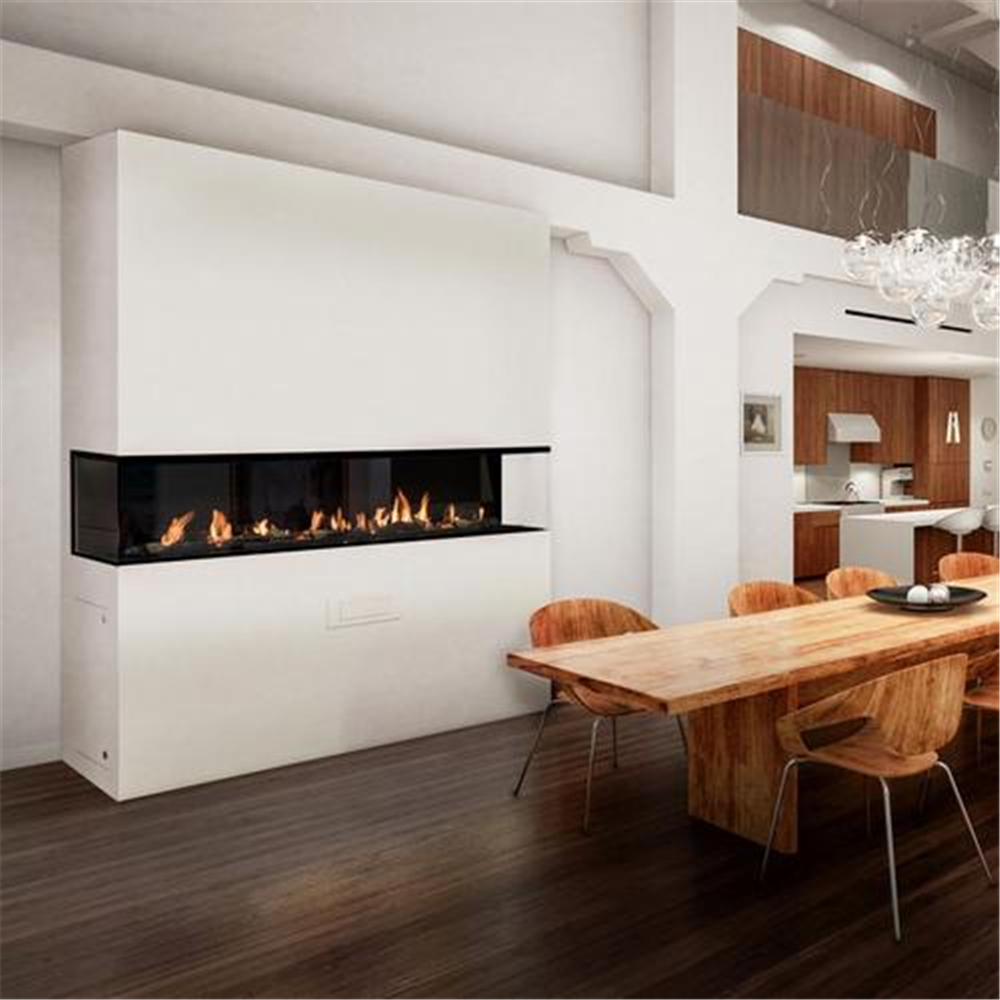 48 Inch Real Fire Intelligent Auto Smart Bio Ethanol Electric Fireplace Fire Pit