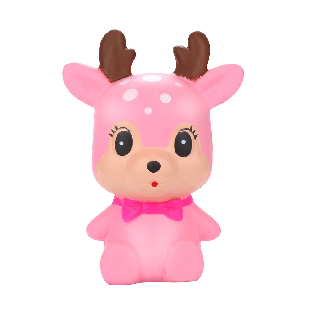Stress Reliever Scented Super Sika Deer Pinch Pressure Decompression Toy Slow Rising Kids Toy Squeeze Toys Cute Deer L107