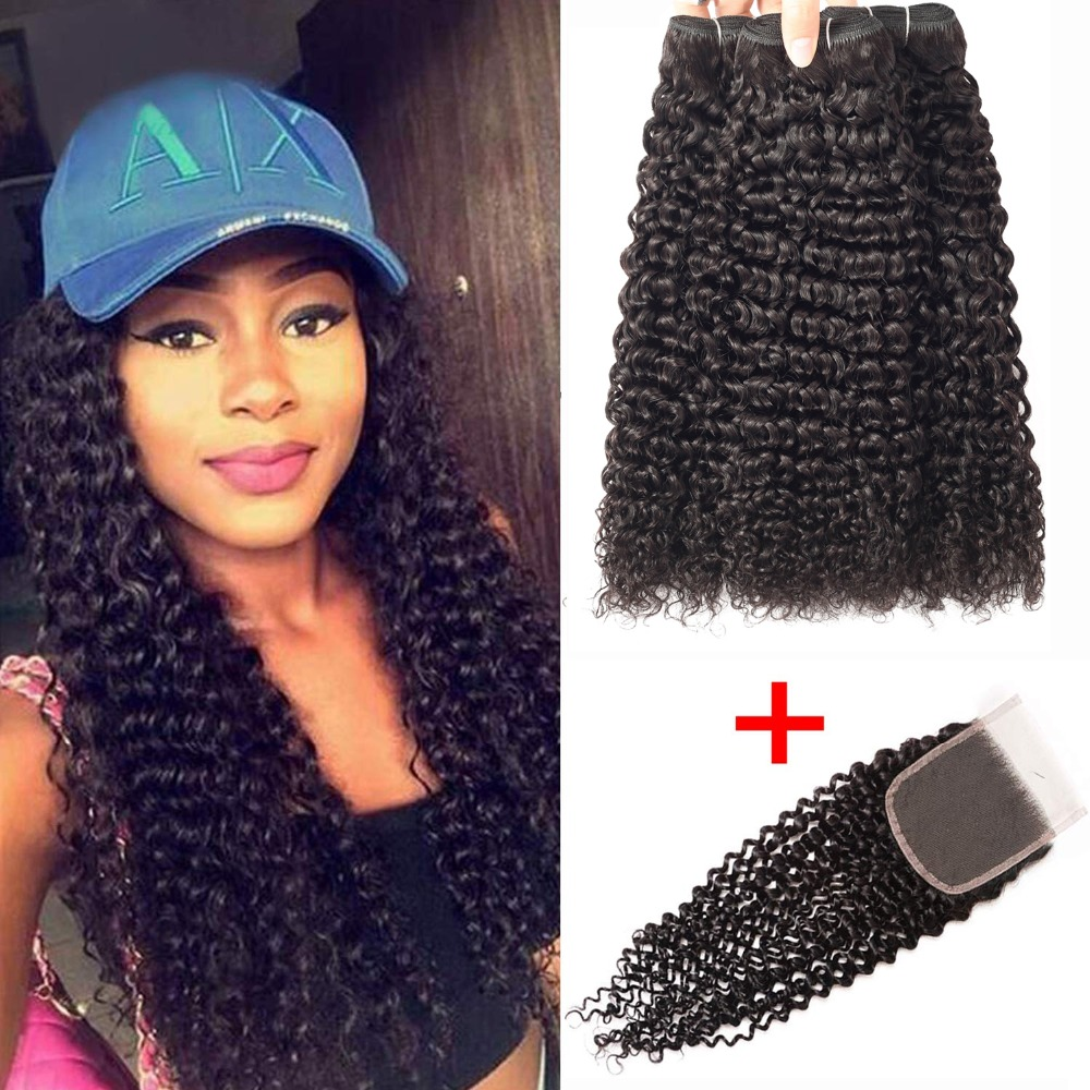 Afro Kinky Curly Bundles With Closure    Bundles With Closure   Bundles With Closure 1
