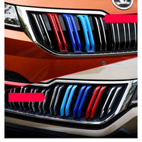 Lsrtw2017 Abs Car Front Grill Middle Net Trims Car Styling for Skoda Kodiaq Gt Interior Mouldings Accessories 2018 2019 2020