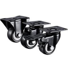 2 ピース/ロット 1.5 インチ/2 インチ卸売ヘビーデューティ 70KGS/100KGSスイベルキャスター輪トロリー家具キャスターゴム