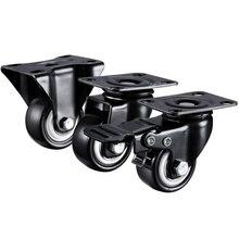 2 pz/lotto 1.5 pollici/2 pollici Commercio Allingrosso Heavy Duty 70KGS / 100KGS Girevole di Ricino Trolley Ruote Mobili Caster Gomma