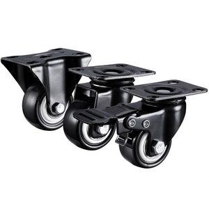 Image 1 - 2pcs/lot 1.5 inches / 2 inches Wholesale Heavy Duty 70KGS / 100KGS Swivel Castor Wheels Trolley Furniture Caster Rubber