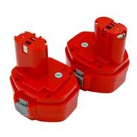 2X batterie ricaricabili per elettroutensili ni-cd PA14 14.4V 3000mAh per Makita 1420 1422 1433 1434 1435 4033D 6281D 6280D 6337D 8281D