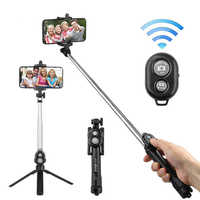 Bluetooth Selfie Stick Tripod Mobile Phone monopod Stand For iPhone 7 8 X XR XS XI Huawei P30 Xiaomi Sumsang smartphone