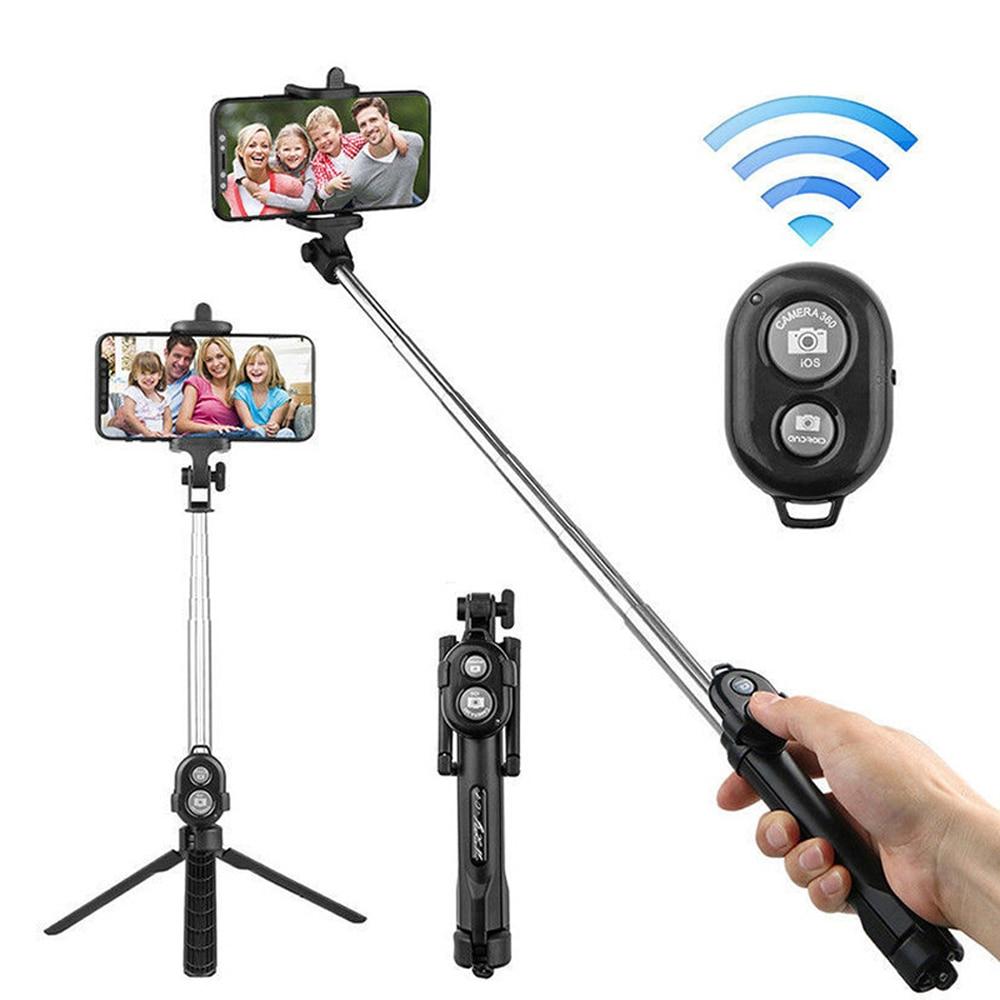 Bluetooth Selfie Stick Tripod Mobile Phone monopod Stand For iPhone 7 8 X XR XS XI Huawei P30 Xiaomi Sumsang smartphone