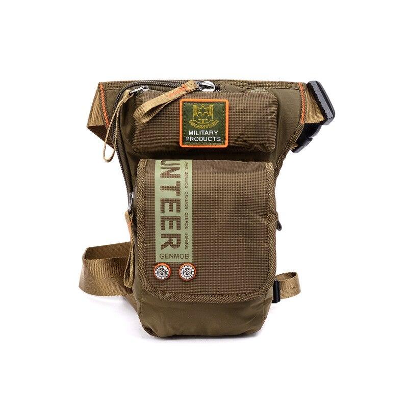 Men Waist Bag Oxford Motorcycle Rider Leg Bag Military Fanny Waist Pack Hip Bum Drop Thigh Belt Pouch Crossbody Shoulder Bags