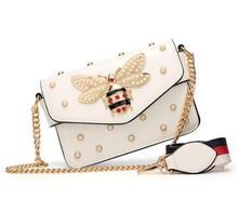 New Women Handbags Famous Brand Messenger Bag Black Small Chain Crossbody Bags Female Luxury Shoulder Bag Pearl Handbag 2019 Red