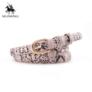 NO.ONEPAUL Pattern Dress Jeans Leather Belt belt decoration elegant For Women Buckle Waistband Snake