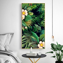 Green Leaves Wall Art Canvas Painting Green Style Plant Nordic Posters and Prints Wall Art Poster Pictures For living Room 5-19