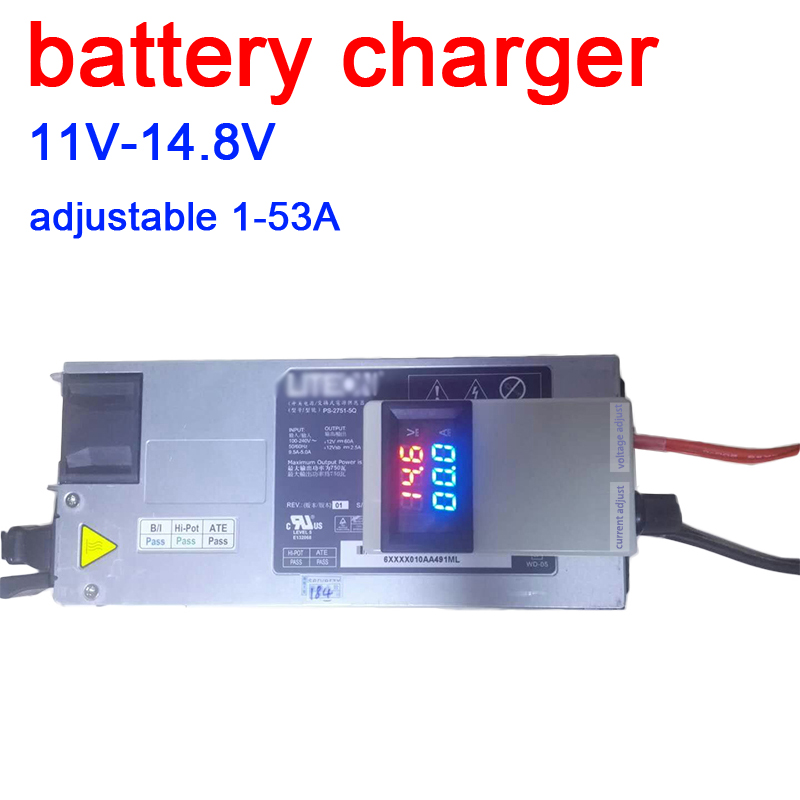 DYKB 3S 4S Lifepo4 Lipo Li-ion Lead-acid Lithium Battery Charger Charging Batteries 12V 12.6 14.6v 50A 75A W VOLT AMP Display