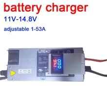 DYKB 3S 4S Lifepo4 Lipo Li ion kwasowo ołowiowa ładowarka litowa ładowanie akumulatorów 12V 12.6 14.6v 50A 75A w VOLT AMP Display