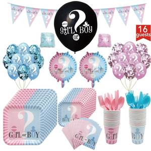 Tableware Birthday-Party-Decorations Girl Boy Napkin-Tablecloth-Garland Cup-Plate Balloons