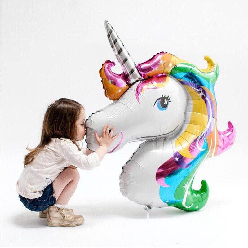 Единорог праздничные украшения: воздушные шары 1 шт. мини Единорог шар День рождения baby shower свадебные шары для украшения детская игрушка в подарок