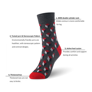 Image 5 - Socks men bamboo fiber stereoscopic pattern man socks 6pairs/lot UK SIZE 7 11 EUR SIZE 40 46 1004 VKMONY