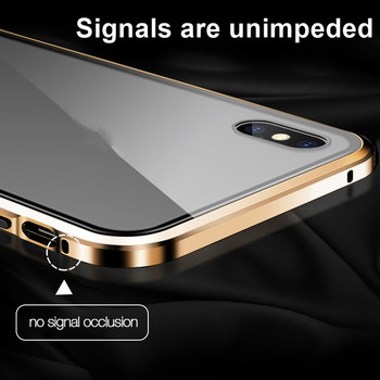 Tongdaytech Magnetic Tempered Glass Privacy Metal Phone Case 10