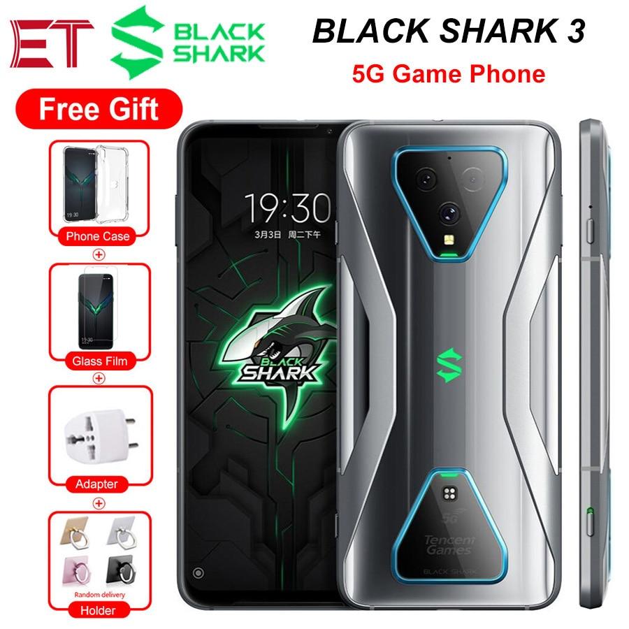 هاتف شاومي بلاك القرش 3 الإصدار العالمي هاتف محمول للألعاب بمواصفات 5 جيجا 6.67 بوصة 8 جيجا/12 جيجا 128 جيجا بايت/256 جيجا بايت سناب دراغون 865 64 ميجا بيكسل 4720mAh أندرويد 10