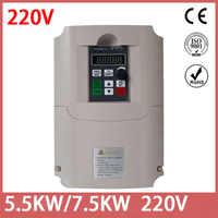0,75 KW/1,5 KW/4KW/5,5 KW/7,5 KW220VFrequency Inverter Einphasig Eingang 220V 3 phase Ausgang Frequenz Konverter Für CNC Motor pumpe