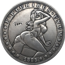 Хобо Никель 1885-CC сша Морган долларовая Монета КОПИЯ Тип 100