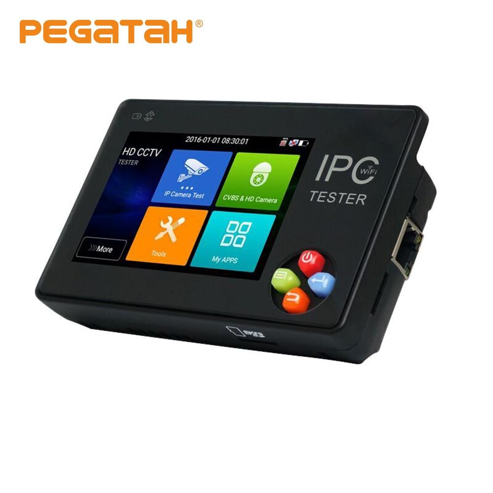 3.5 Inch H.265 4K IP CCTV Tester Monitor IP AHD CVI TVI IP Camera Tester ONVIF PTZ WIFI 12V1A Output Wireless WIFI Video